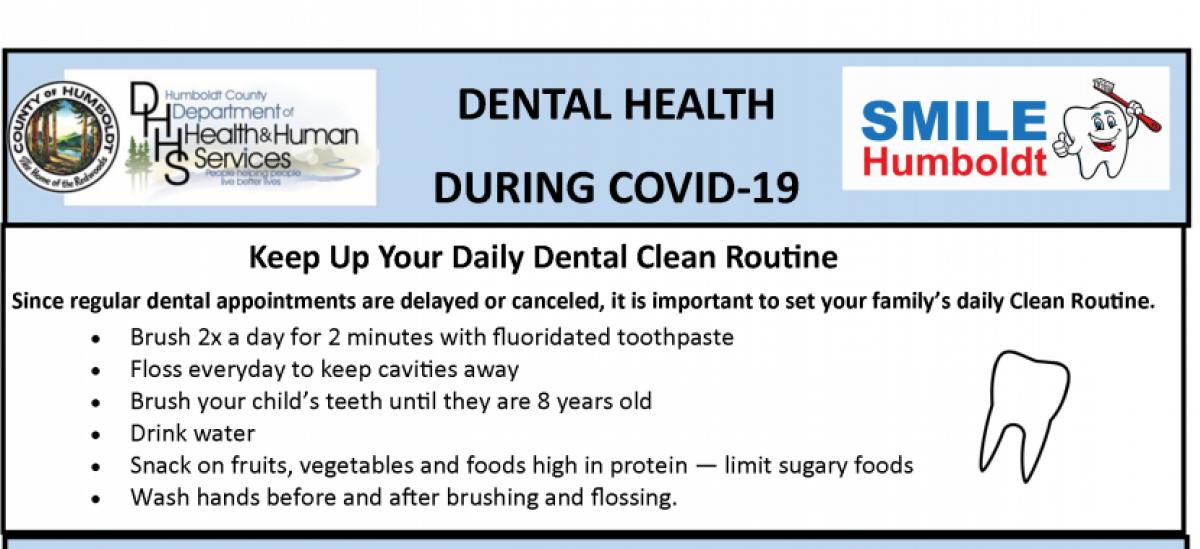 dental health during covid 19