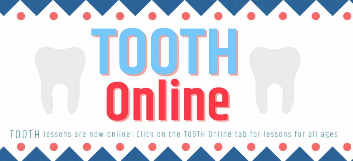 decorative banner reading tooth online